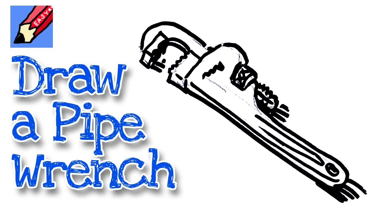 1280x720 How To Draw A Pipe Wrench Real Easy