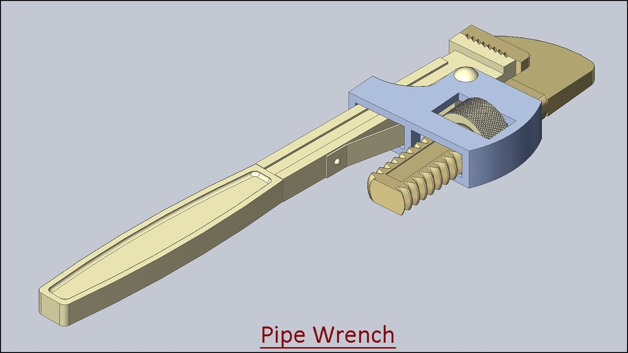 1280x720 Pipe Wrench (Volume 2) Solid Edge Tutorial