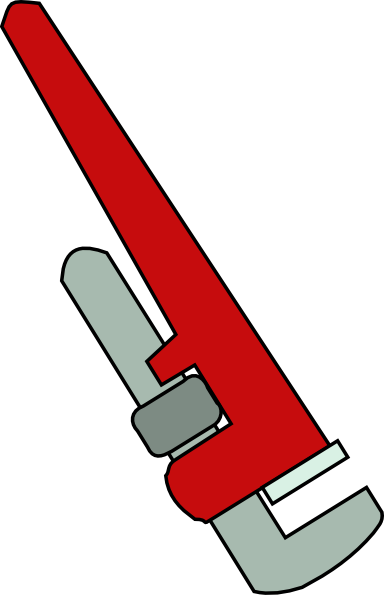 384x595 Pipe Wrench Clip Art