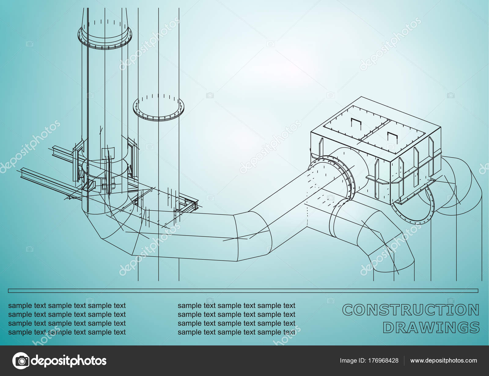 1600x1231 Construction Drawings Metal Construction Pipes Piping Cover