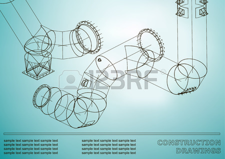 450x318 Drawings Of Structures. Pipes And Pipe. 3d Blueprint Of Steel