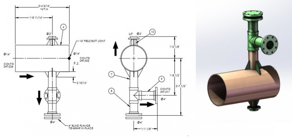 940x442 Development Of 2d Piping Spool Drawings And 3d Spool Model