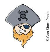 171x179 Evil Eye Patched Beard Pirate Man. Drawing Art Of Cartoon