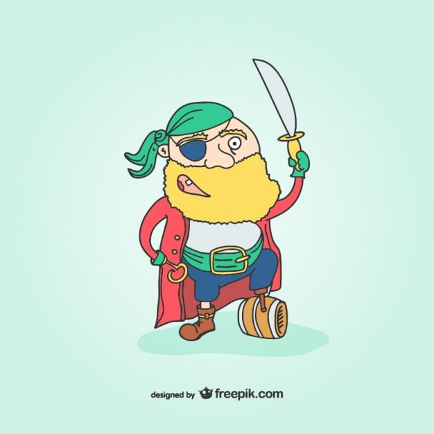 626x626 Wooden Leg Pirate Cartoon Vector Free Download