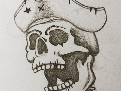 400x300 Skeleton Pirate Drawing (Pt 1.) By Kevin May