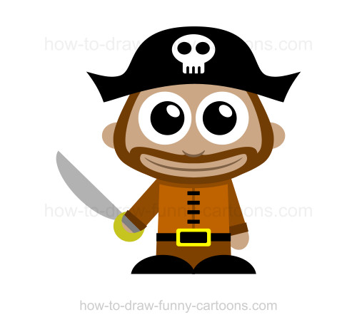 500x459 To Draw A Pirate