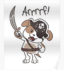 210x230 Pirate Dog Drawing Posters Redbubble