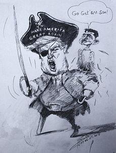 229x300 Pirate Drawings Fine Art America