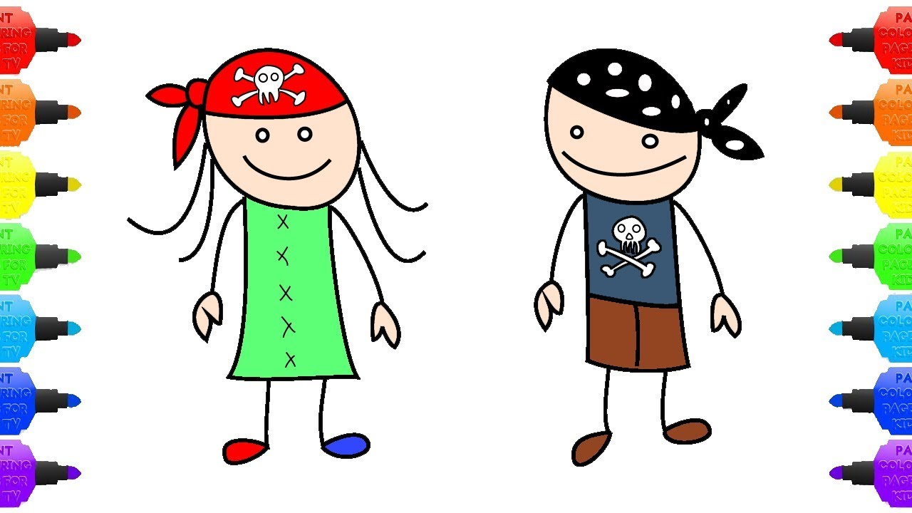 1280x720 Teach Drawing Kids How To Draw Pirate Kids Boy And Girl