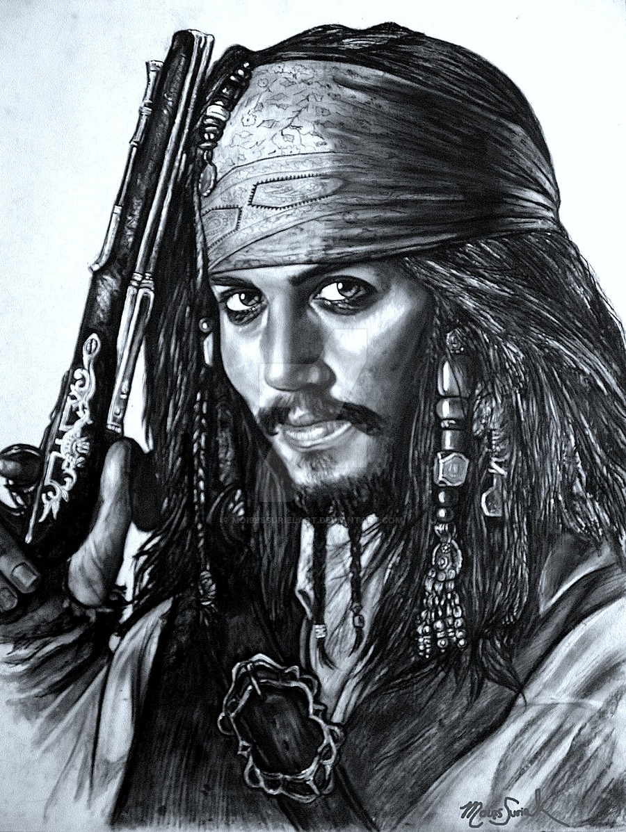 900x1197 Pirate Pencil Drawing By Moisessurielart