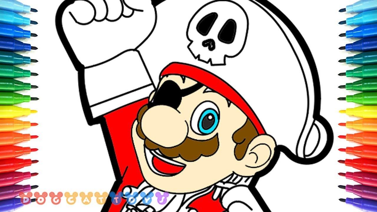 1280x720 How To Draw Mario Odyssey, Pirate Mario