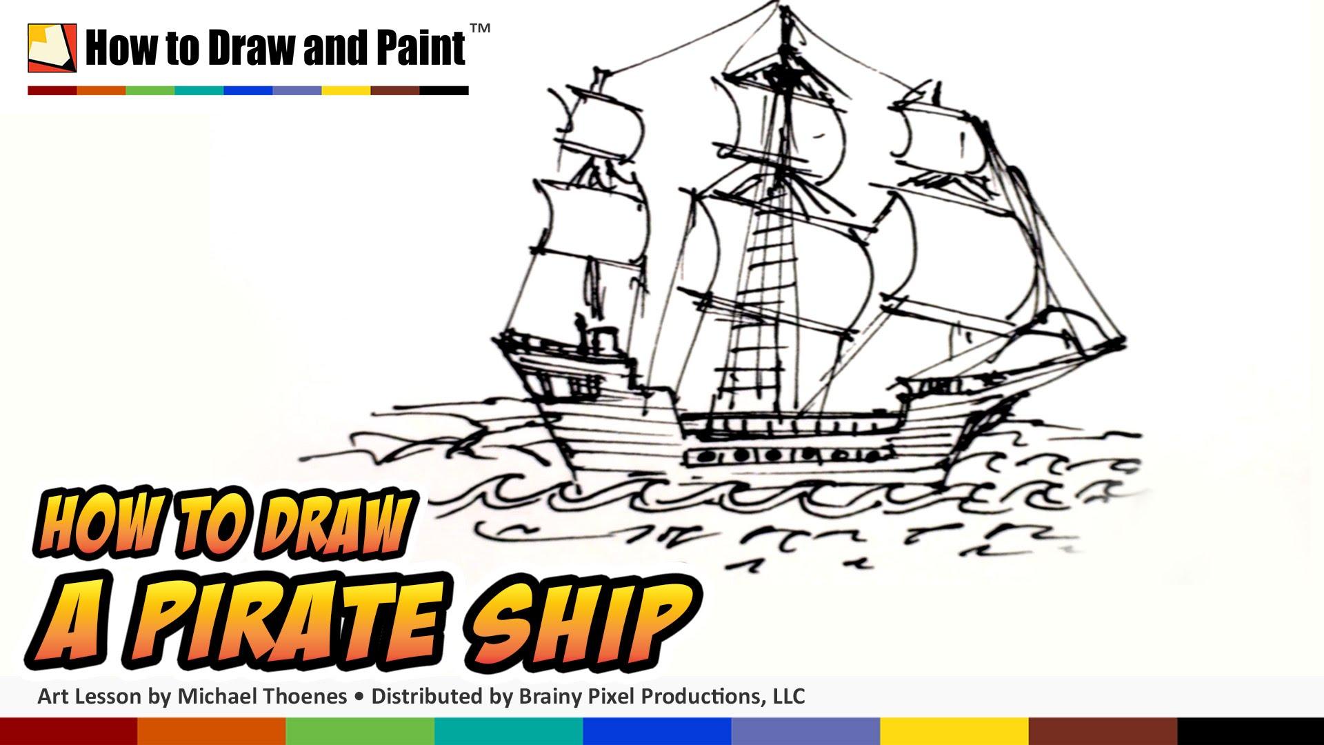 Pirate Ships Drawing at GetDrawings | Free download