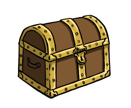 456x375 How To Draw A Treasure Chest 10 Steps (With Pictures)
