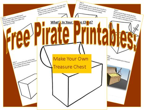 466x357 Pirate Printables Draw Your Own Pirate Chest Pirate Theme