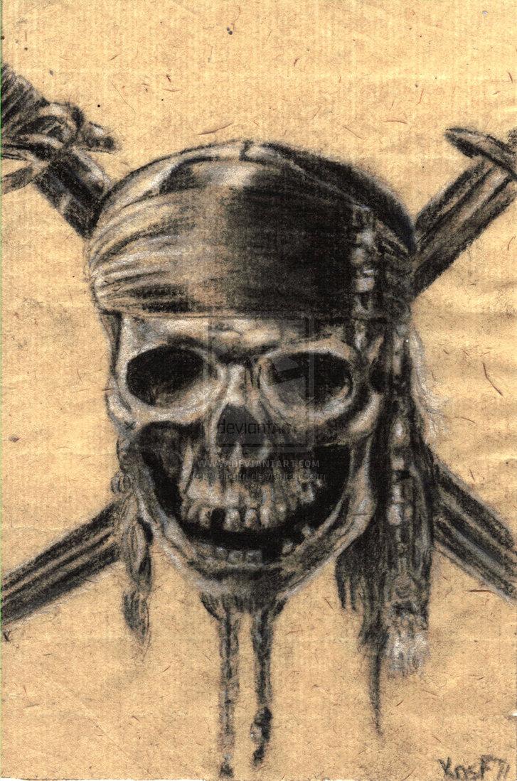 727x1099 Pirates Of The Caribbean Skull By Kv Arts Captain, Captain Jack