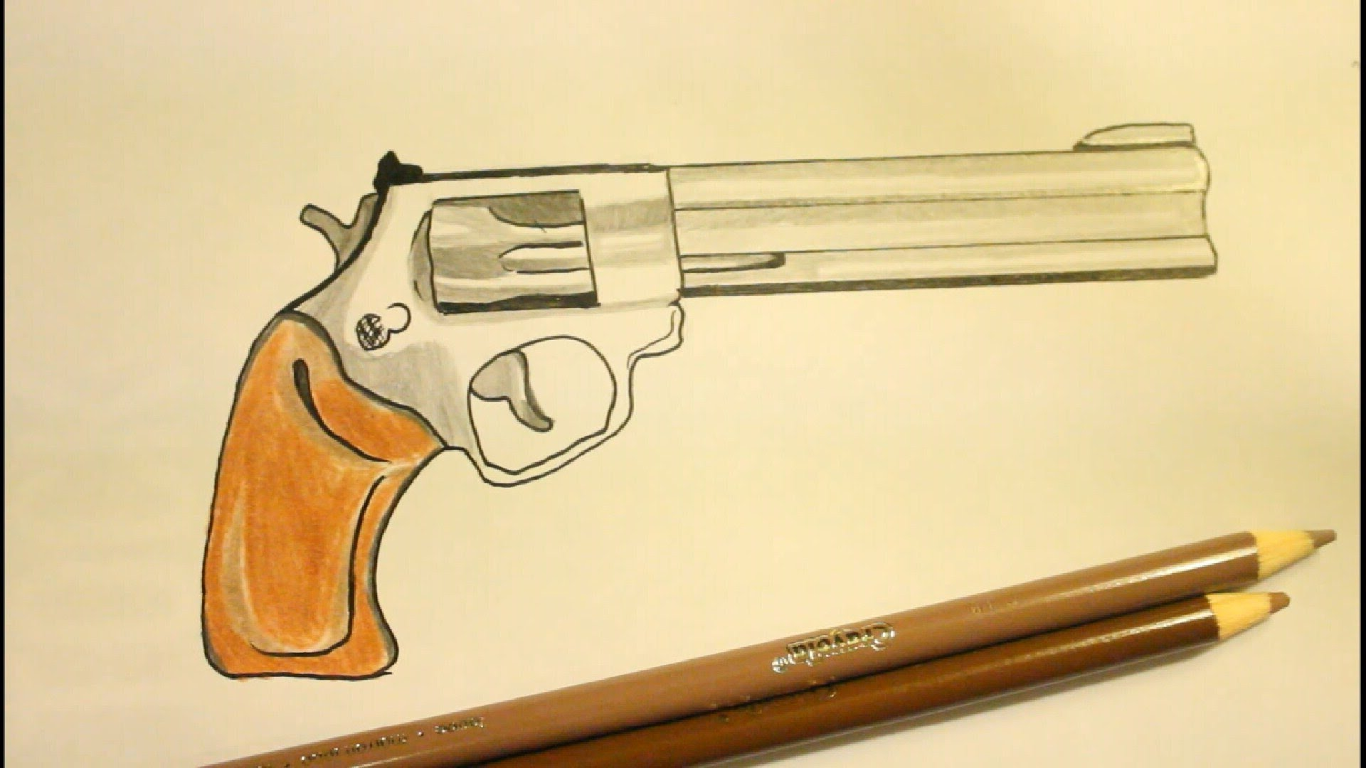 1920x1080 How To Draw A Pistolstep By Stepgunon Paper.