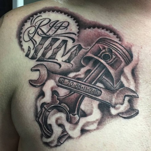 510x510 Wrench And Piston Tattoo Best Tattoo Ideas Gallery