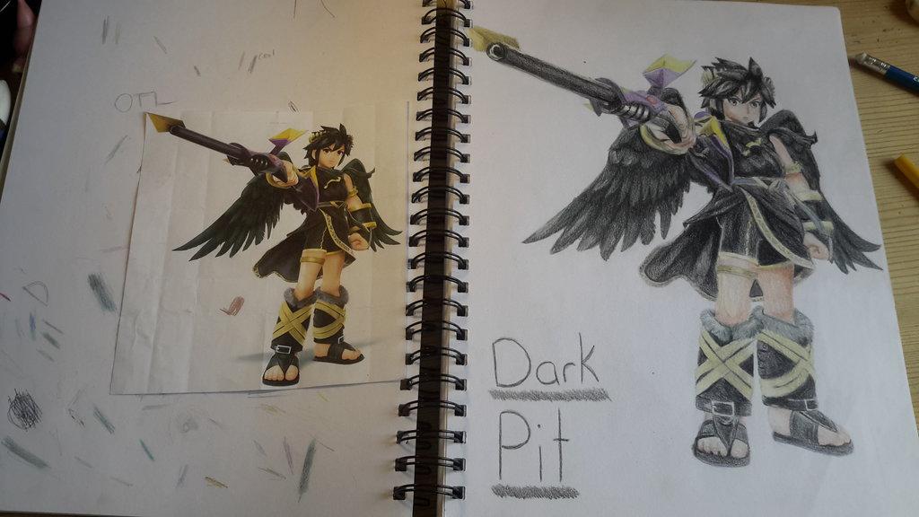 1024x576 Dark Pit Drawing By Koiba16 On DeviantArt