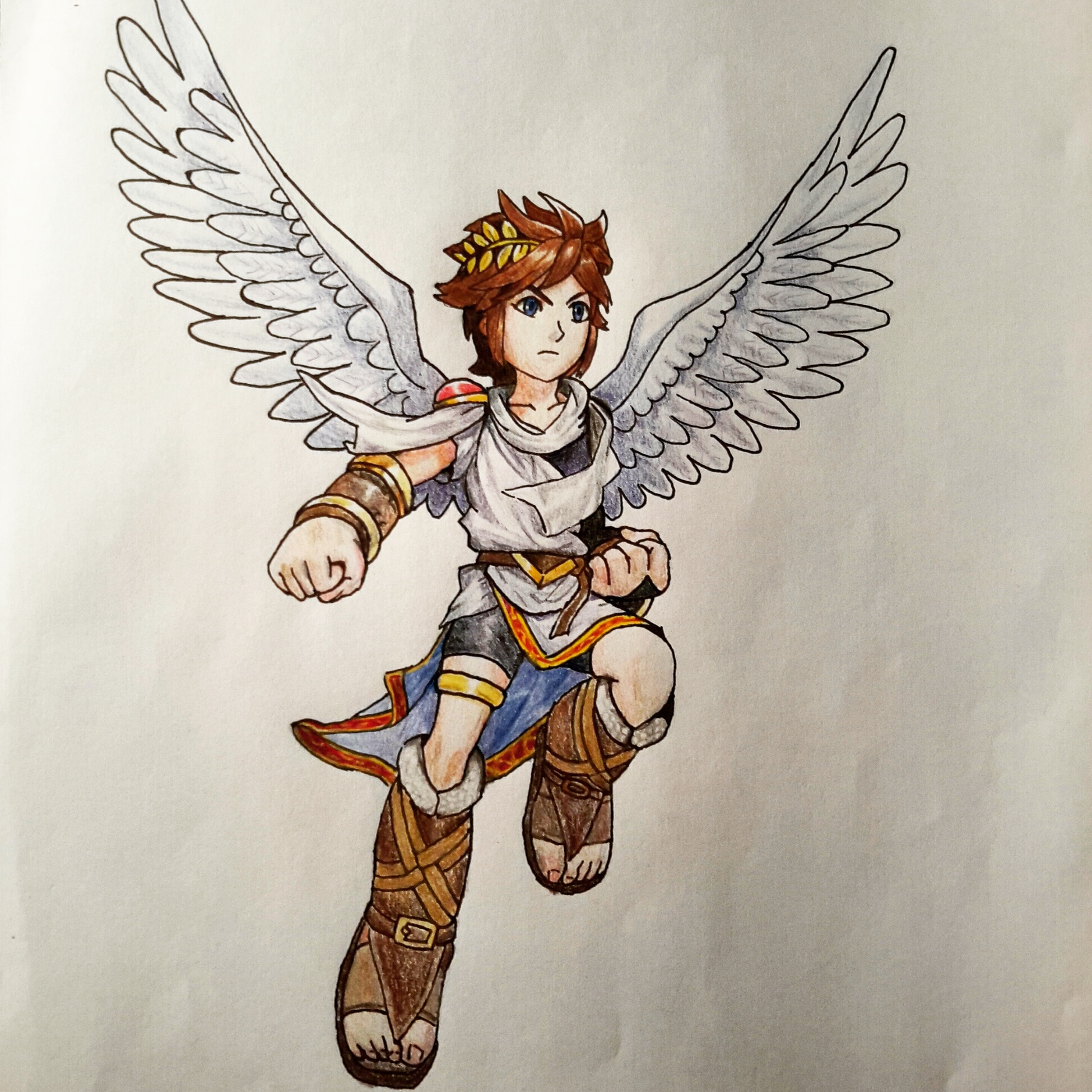 1500x1194 How To Draw 1949x1949 Pit Kid Icarus By Mingming8 On DeviantArt