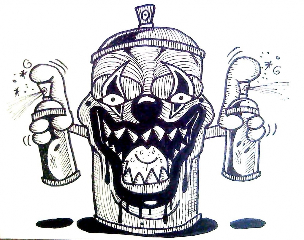 1024x810 Cool Pitchers Of Spray Cans How To Draw