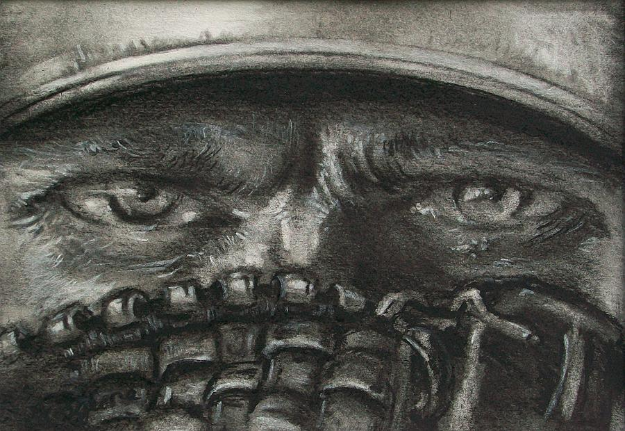 900x620 Pitchers Eyes Drawing By Tom Forgione