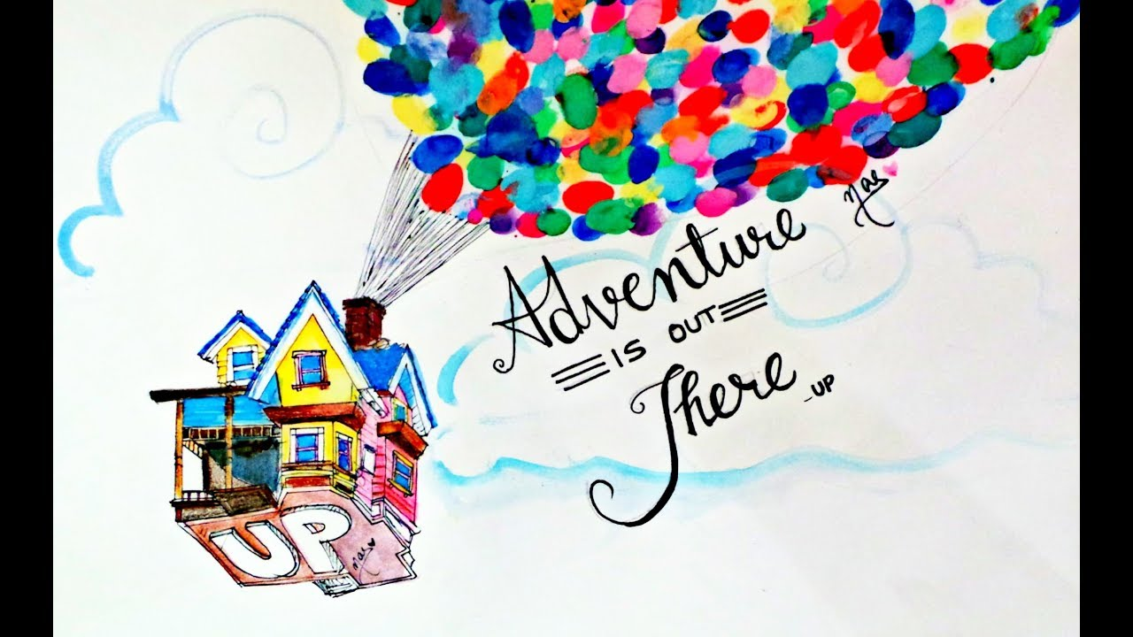 1280x720 Disney Movie Up House Of Balloons Drawing Tutorial