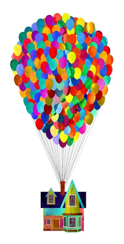 400x784 Disney's Up House By Foreverwars Fingerprint Balloons Disney