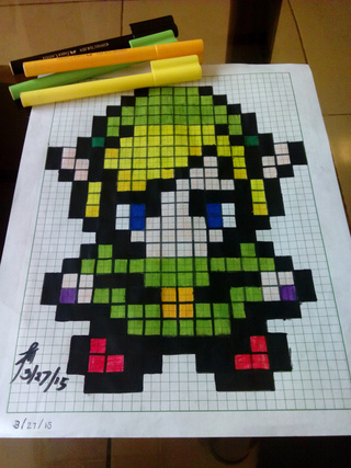 320x427 My First Pixelated Drawing Link Of Legend Of Zelda