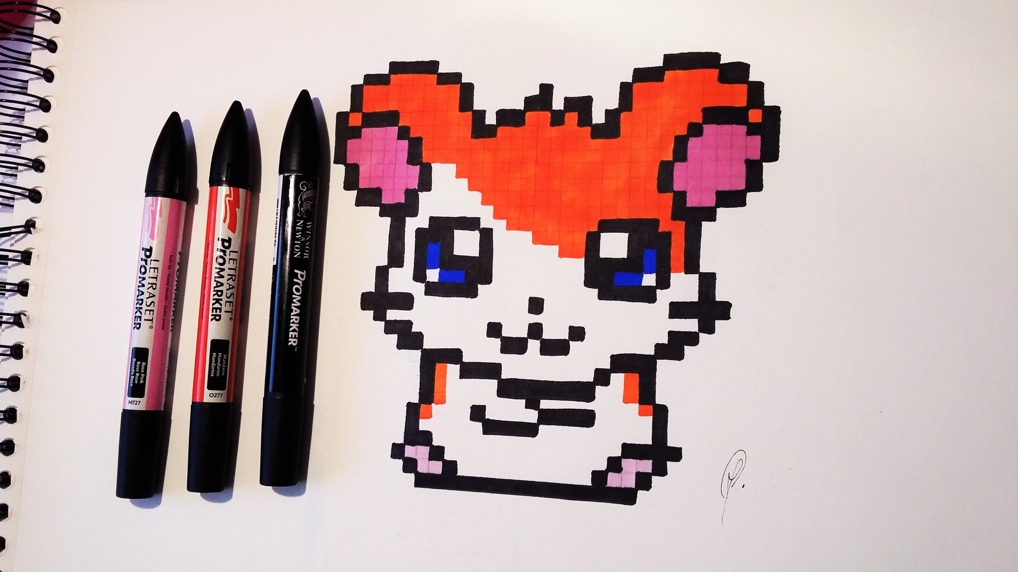 3264x1836 Hamtaro Drawing