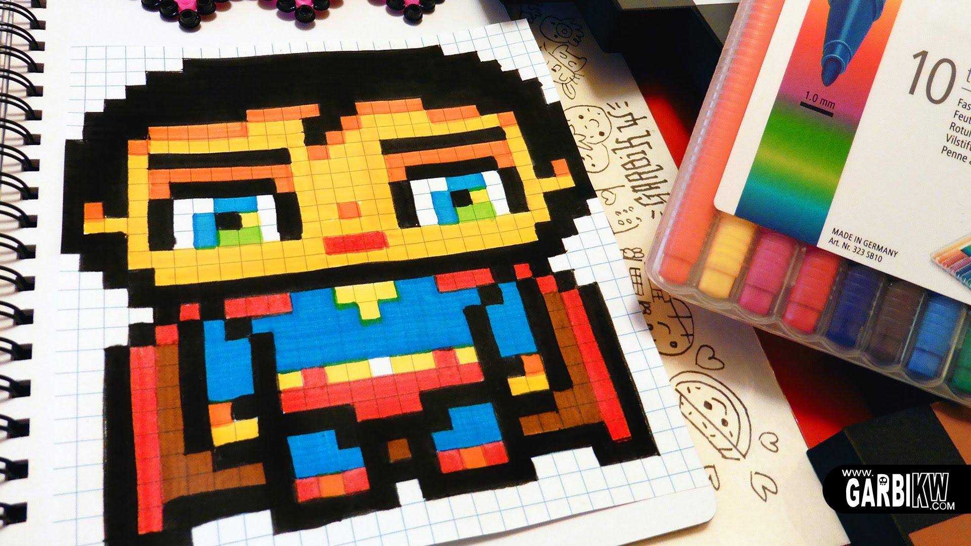 Dessin Pixel Art Deadpool