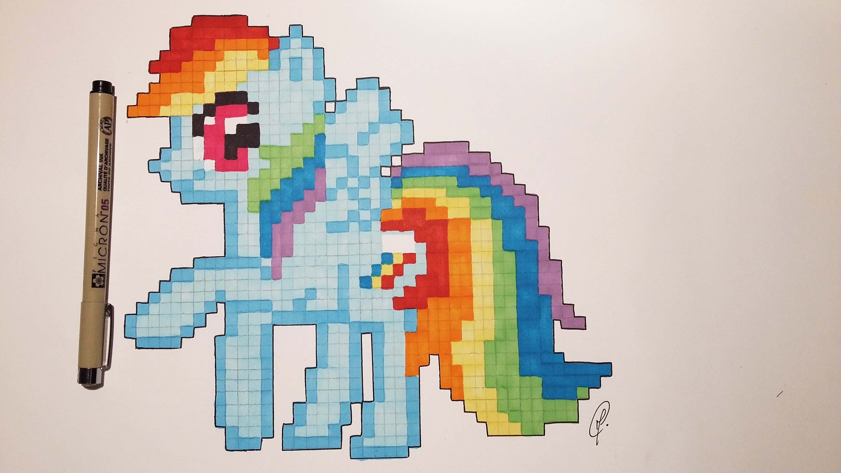 3264x1836 How To Draw Little Pony Rainbow Dash With Pixels