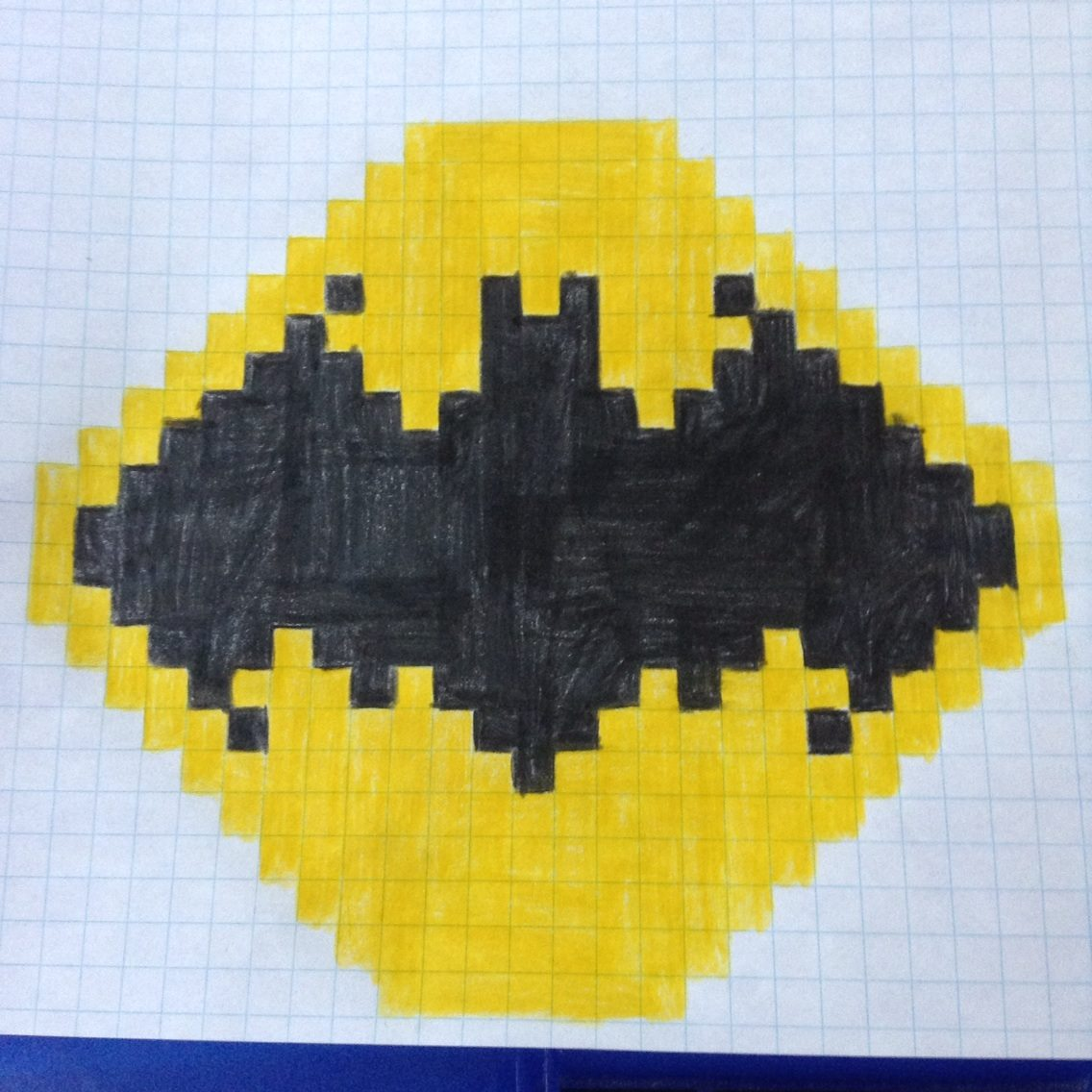 1136x1136 Batman Logo Pixel Drawing Comment And Like ! If You Want To See