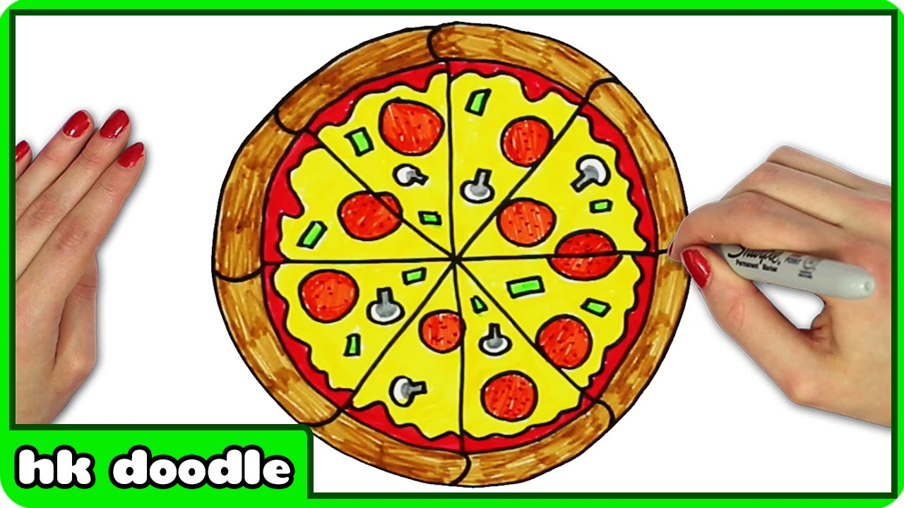 1280x720 How To Draw A Pizza