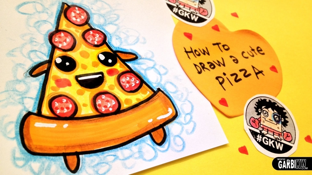 1024x576 Easy Cute Drawings How To Draw A Cute Pizza Easy And Kawaii
