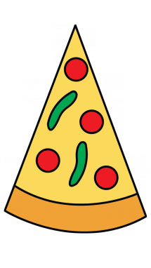 215x382 How To Draw A Slice Of Pizza, Food, Easy Step By Step Drawing Tutorial