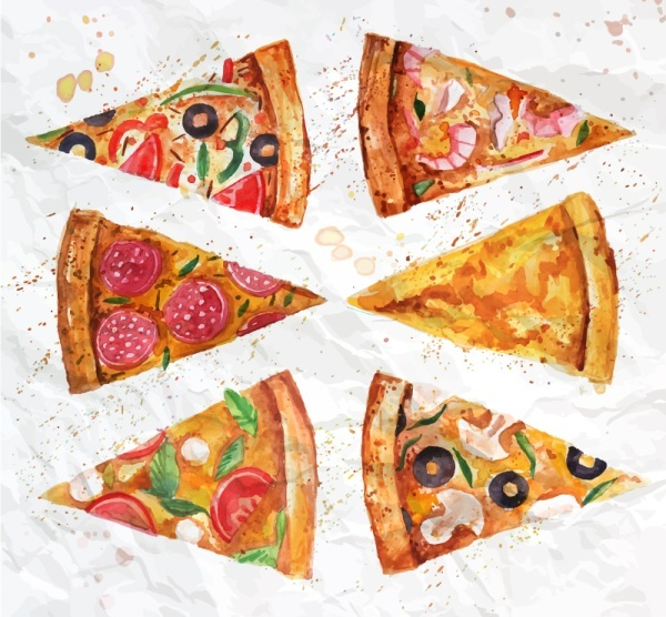 600x556 Pizza Slices Drawing Free Vector Download (90,109 Free Vector)