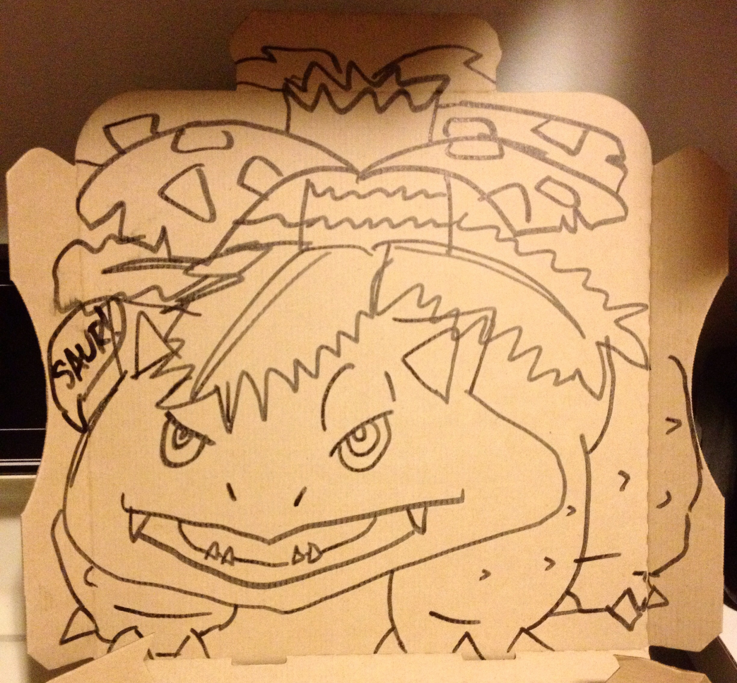 2448x2268 Asked Pizza Hut To Draw A Venusaur. They Did Not Disappoint! Pokemon