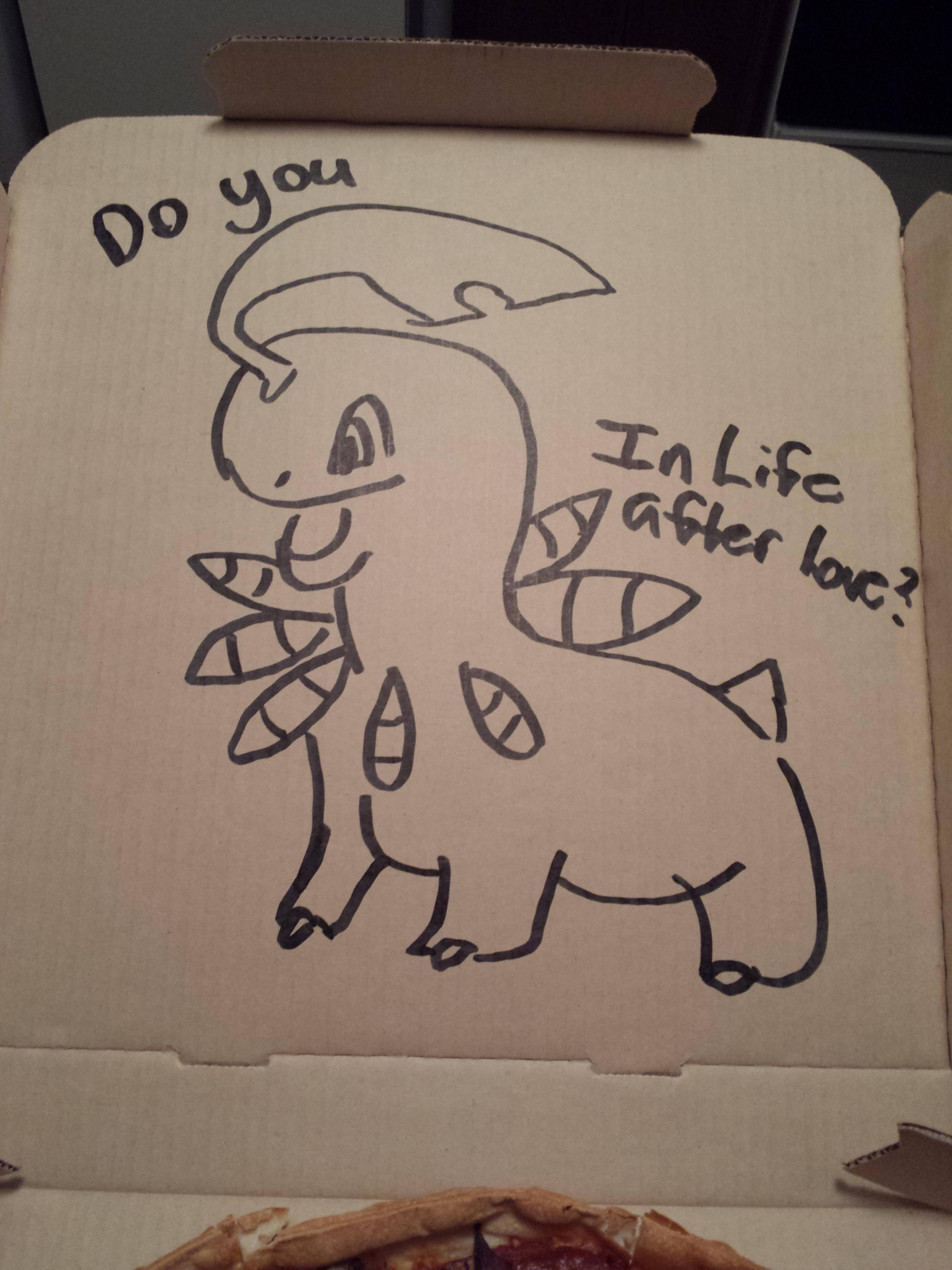 3096x4128 I Asked Pizza Hut To Draw A Pokemon On My Box I Want