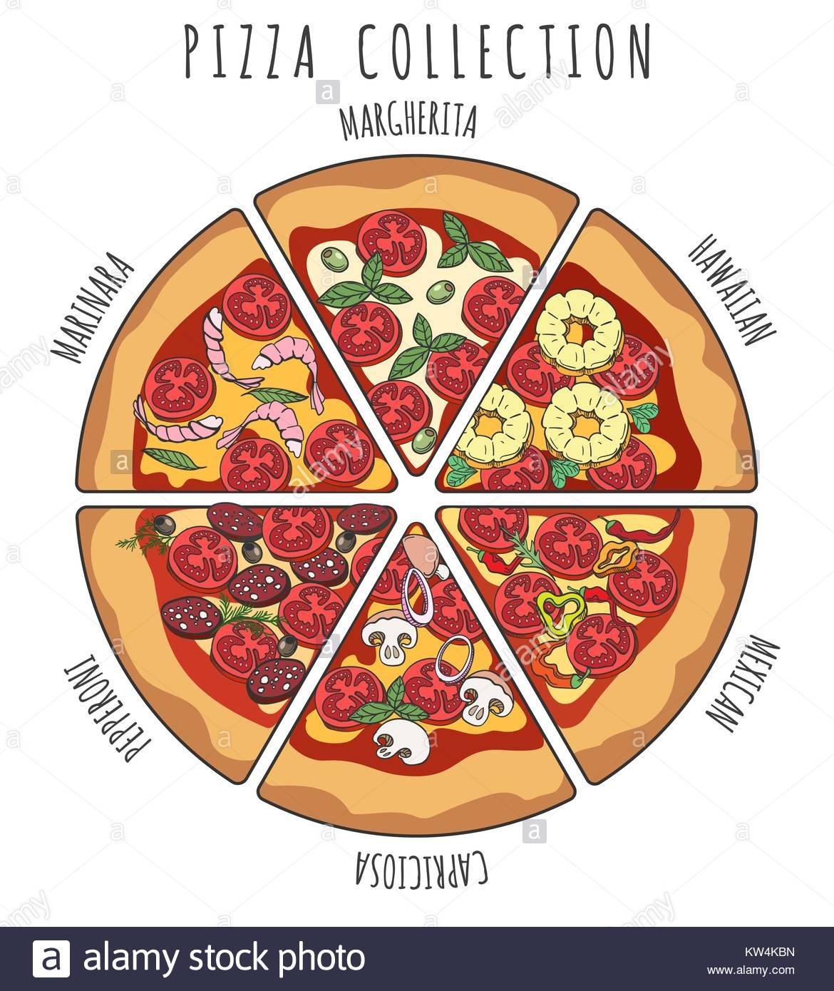 1170x1390 Pizza Slice Collection. Margherita Pepperoni, Hawaiian