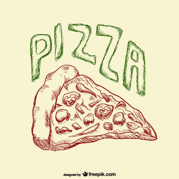 626x626 Pizza Slice Drawing Vector Free Download