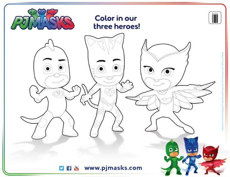 736x568 pj masks color pages leversetdujourinfo