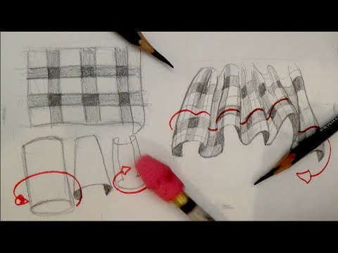 480x360 How To Draw Plaid Pattern Clothing, Fabric, Drapery And Folds