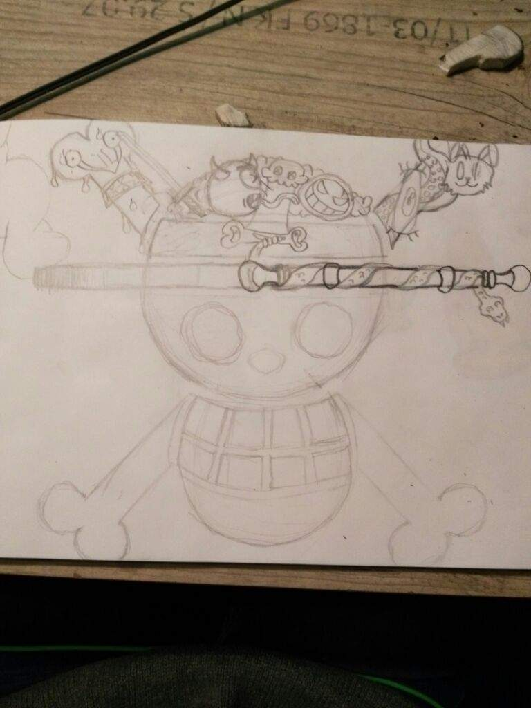 768x1024 One Piece Jolly Roger (My Biggest Drawing) One Piece Amino