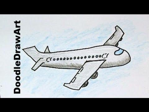 480x360 How To Draw A Cartoon Airplane