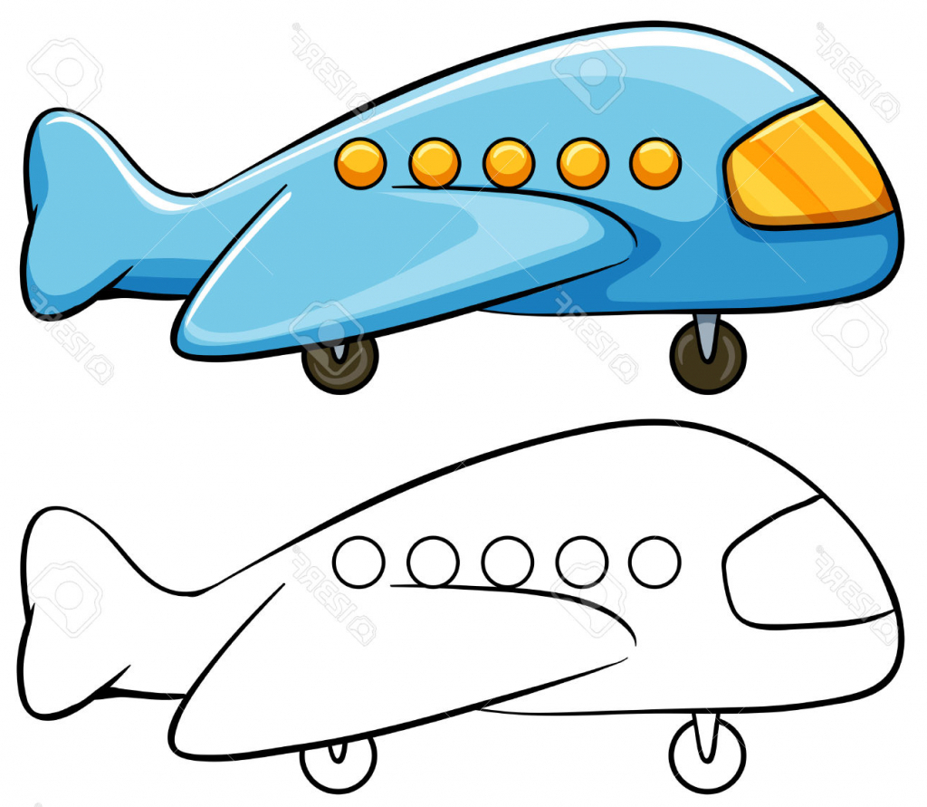 1024x891 Simple Drawing Of Airplane Simple Airplane Drawing