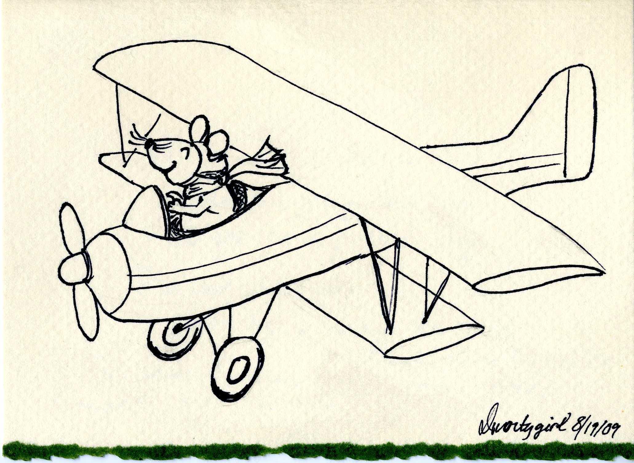 2062x1506 Biplane Drawing
