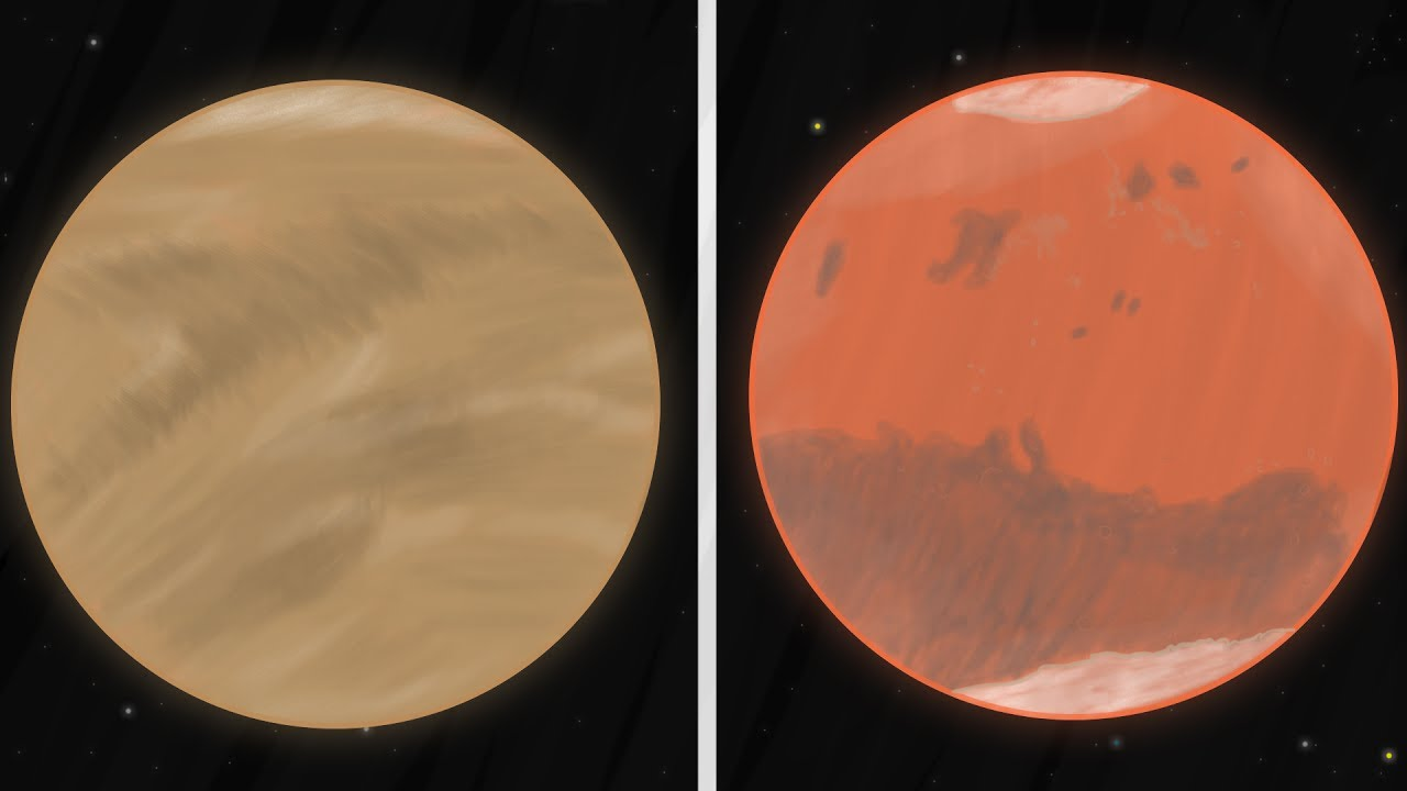 1280x720 Drawing Mars And Venus (Time Lapse)