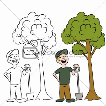 340x340 Image 3889454 Tree Planting Man From Crestock Stock Photos