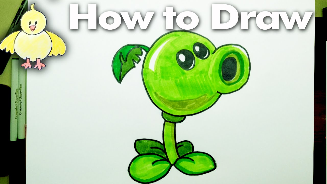 1280x720 Drawing How To Draw A Peashooter Plant