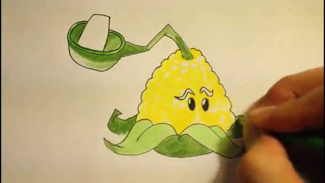 1280x720 How To Draw Plants Vs Zombies 2 All Plants Kernel Pultcharacters